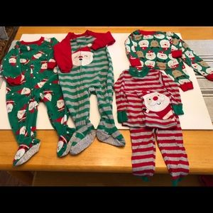Four sets of Christmas Pjs